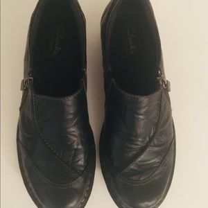 Clarks Black Leather Shoes Booties